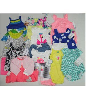 Huge Lot Baby Girls Summer 20 items